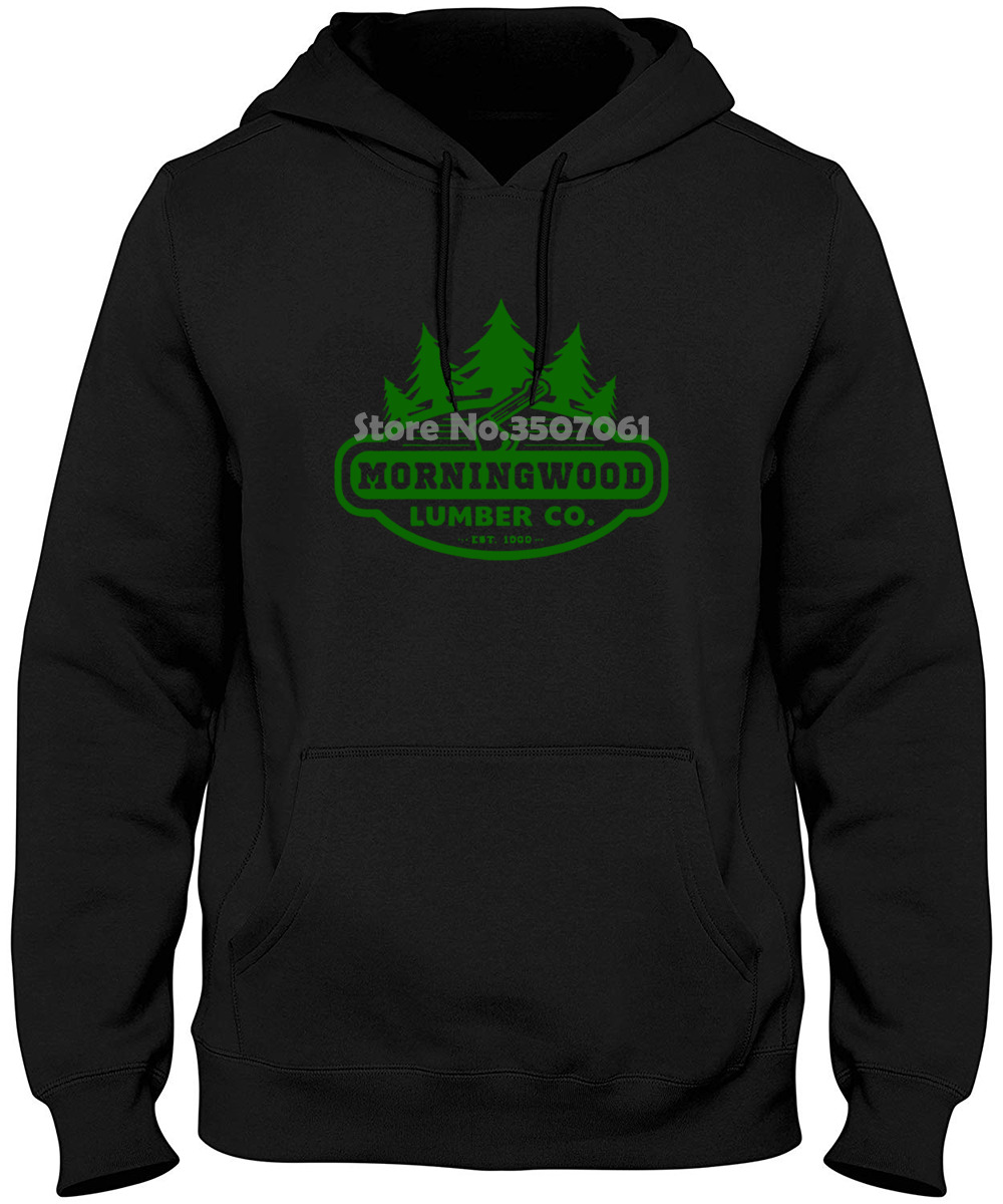 Morningwood Lumber Company Carpenter Offensive Rude Morning Wood Co Lumberjack Graphic O-neck Tops Hoodies & Sweatshirts