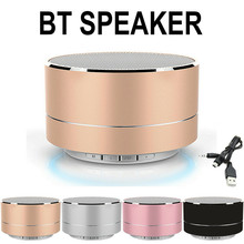 Portable Mini Metal Steel Wireless Smart Hands Led Wirelwss Mnin Bass BT Portable Speakers For iPHONE For Phones MP3 FT