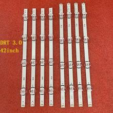 Conjunto de 8 unidades de tira de LED para iluminación trasera para LG 42LB550U, 42LB561U, 42LB550B, 42LB5610, 42LB551V, 42LF561V, 42LF561V, 42LF580V, 42LY320C, 42LB570B