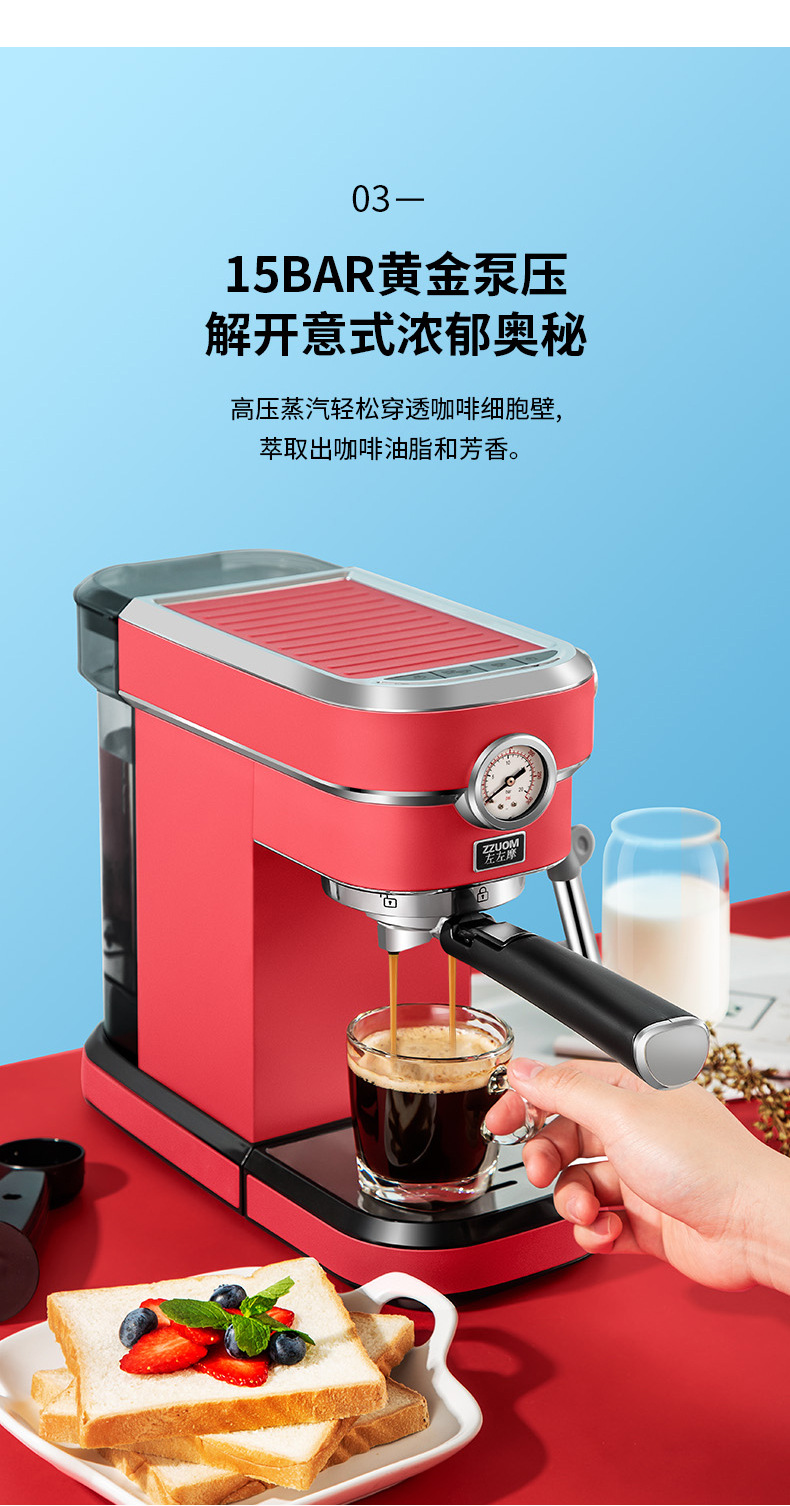 Hd04096504d0446848b16a891865b33f9W - 2020 Neue 15Bar Espresso Machine Stainless Steel Body Memory Function Home Use Fully Automatic Milk Frother Kitchen Appliances