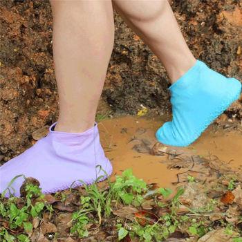 Silikonowe lateksowe wodoodporne pokrowce na buty zewnętrzne osłony przeciwdeszczowe na buty osłony przeciwpyłowe kolarstwo gumowe kalosze buty tanie i dobre opinie 0703513