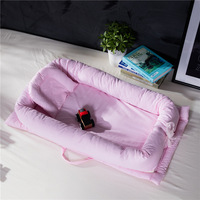 90*55*15cm Baby Bed Nest Portable Foldable Baby Crib Newborn Sleeping Bed Travel Bed For 0 24 Month baby
