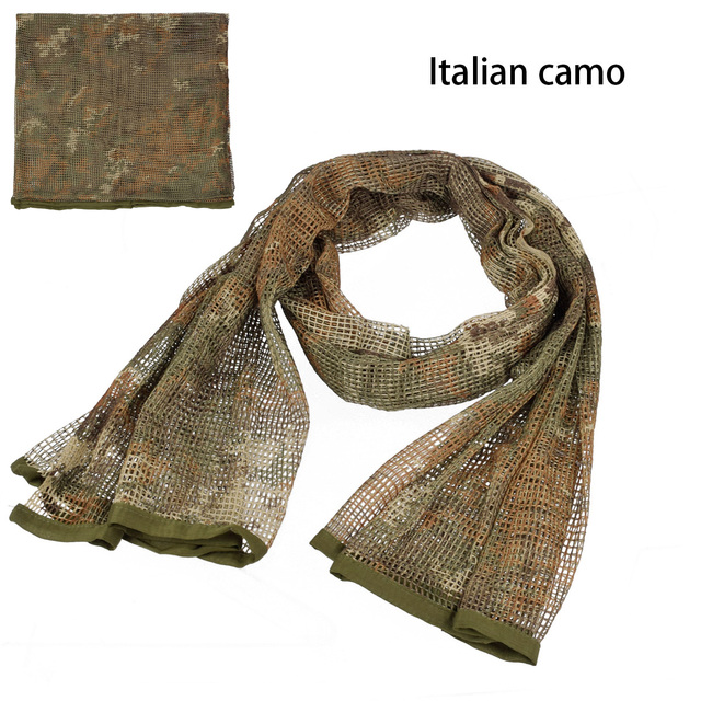 190*90cm Scarf Cotton Military Camouflage Tactical Mesh Scarf Sniper Face Scarf Veil Camping Hunting Multi Purpose Hiking Scarve 3