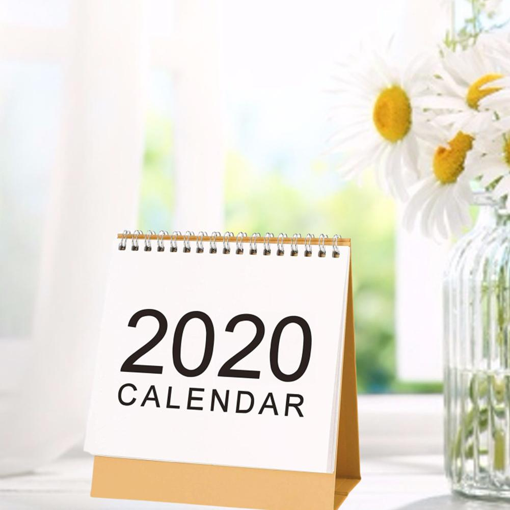 Desk Calendar 2019-2020 Monthly Desk-Top Stand Up Flip Calendar For Family Or Business Officee Table Planner Date Notepad