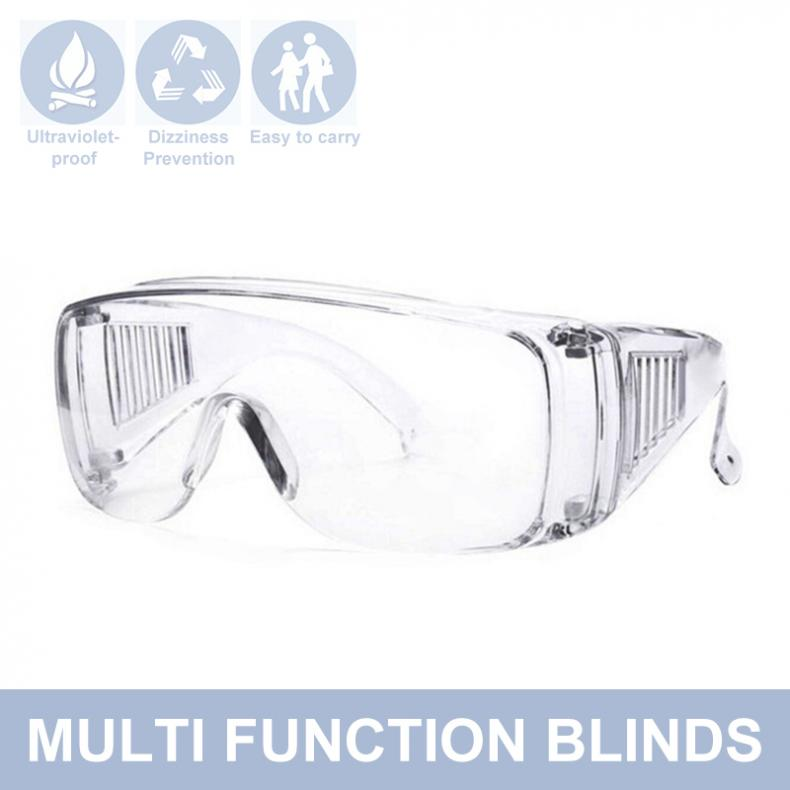 Transparent Safety Glasses Anti-splash Eye Protection Goggles Anti-fog Dust-proof Outdoor UV-proof Goggles Medical Eyewear
