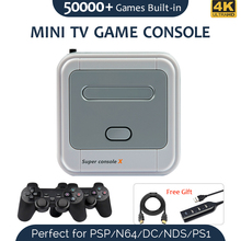 Super Console X Portable Video Game Console Build In 51000+ Games 4K Output Support WIFI KODI Classic Retro Games Player N64 PSP