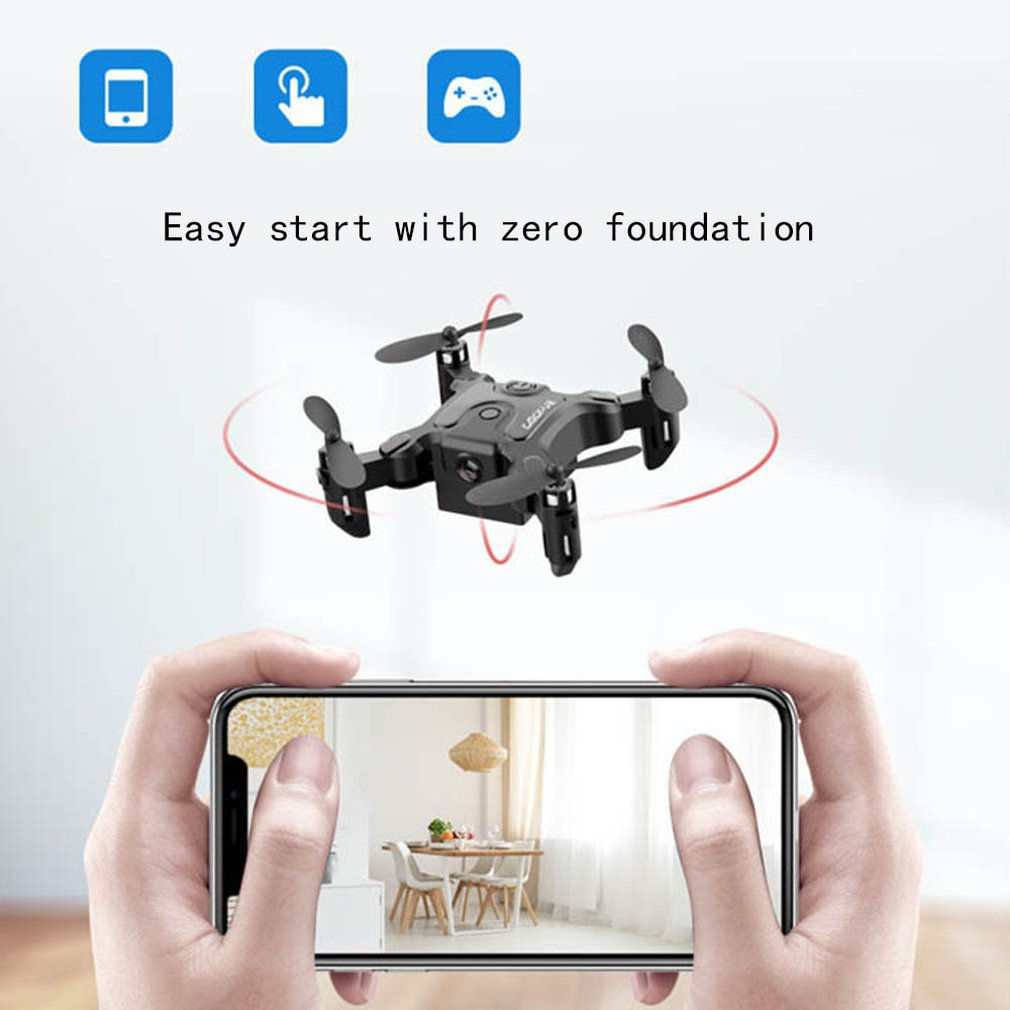 cheapest Mini Folding Drone 4K HD Camera Aerial Photography Four-Axis Drone Foldable Helicopter Kid s Toys