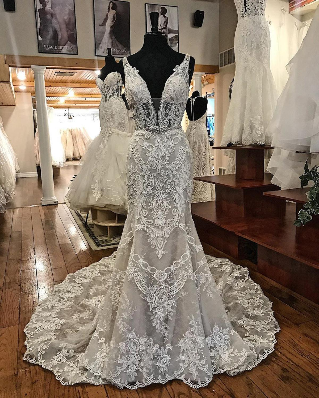 New Arrivals Mermaid Wedding Dresses Princess Wedding Gowns Bride 3D Flowers Custom Make Plus Size Wedding Robe De Mariee 2020