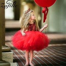 ZAFILLE Baby Dress For Girls Princess Fancy Wedding Party Dress Sleeveless Birthday Baby Girl Dress Summer Tutu Dress Mesh Dress