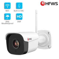HFWS Video Ip Camera Wifi Outdoor Waterproof 3Mp Wireless Security Home Infrared Camera Voice Cctv