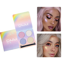 Pigment Highlighter Shimmer Shine Rainbow Palette Cosmetic Makeup Powder Glow Kit Maquillage Face