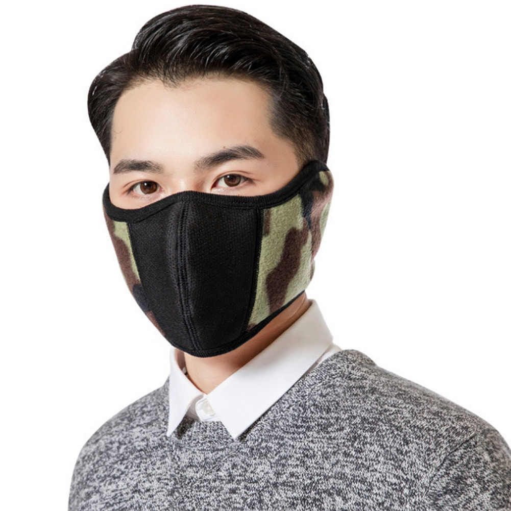 Windproof Plush Mask For Women Men Warming Breathable Half Face Masks Winter Sports  Riding Cycling JL