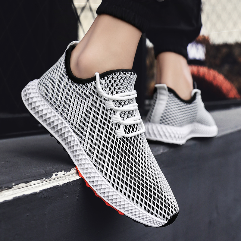 Litthing Men Shoes Sneakers Flats Mesh Summer Man Breathable Running