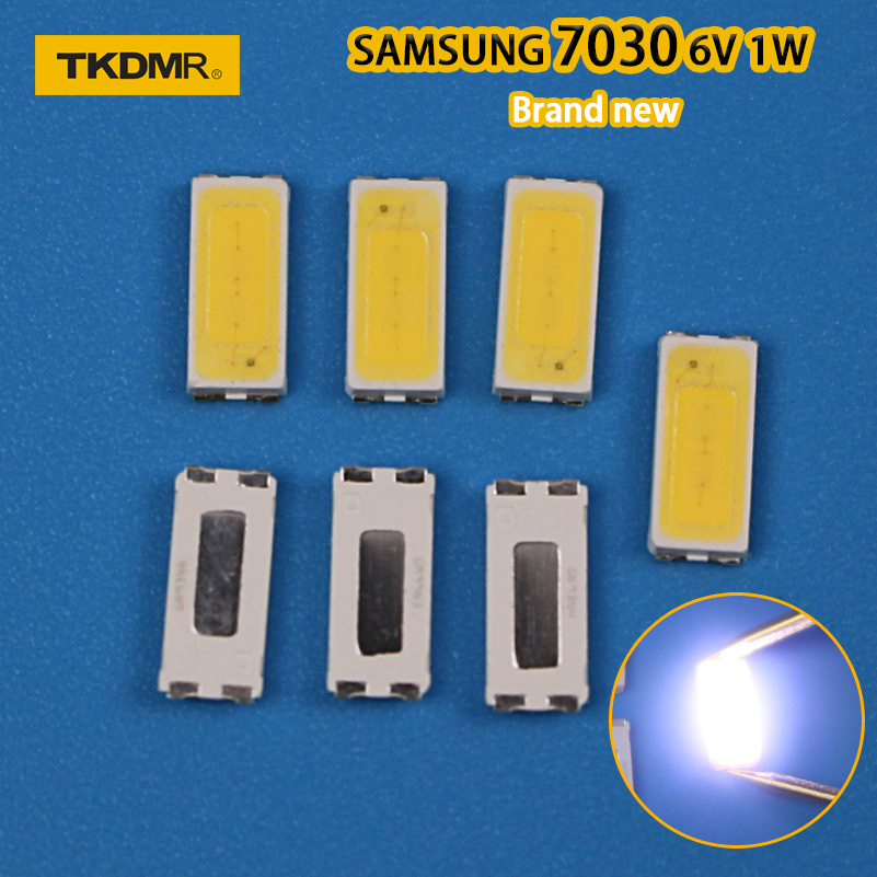 TKDMR 50pcs FOR Repair Sony Toshiba Sharp LED LCD TV Backlight Seoul SMD LEDs 7030 6V Cold White Light Emitting Diode STWBX2S0E