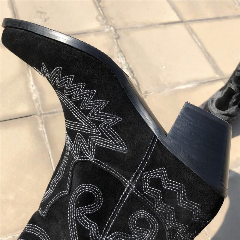 Genuine-Leather-Knee-High-Boots-Women-Pointed-Toe-Embroidery-Square-High-Heel-knight-Boots-Ladies-Fashion (3)