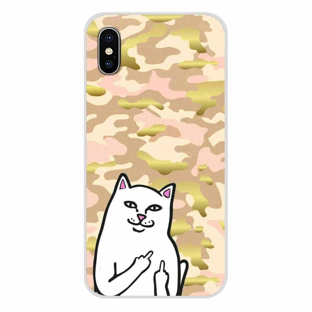 Acessórios capa de telefone cobre dedo médio gato para bq aquaris s 5059 5035 6040l c v plus x x2 pro u u2 lite m 2017 e 4.5 e5 x5