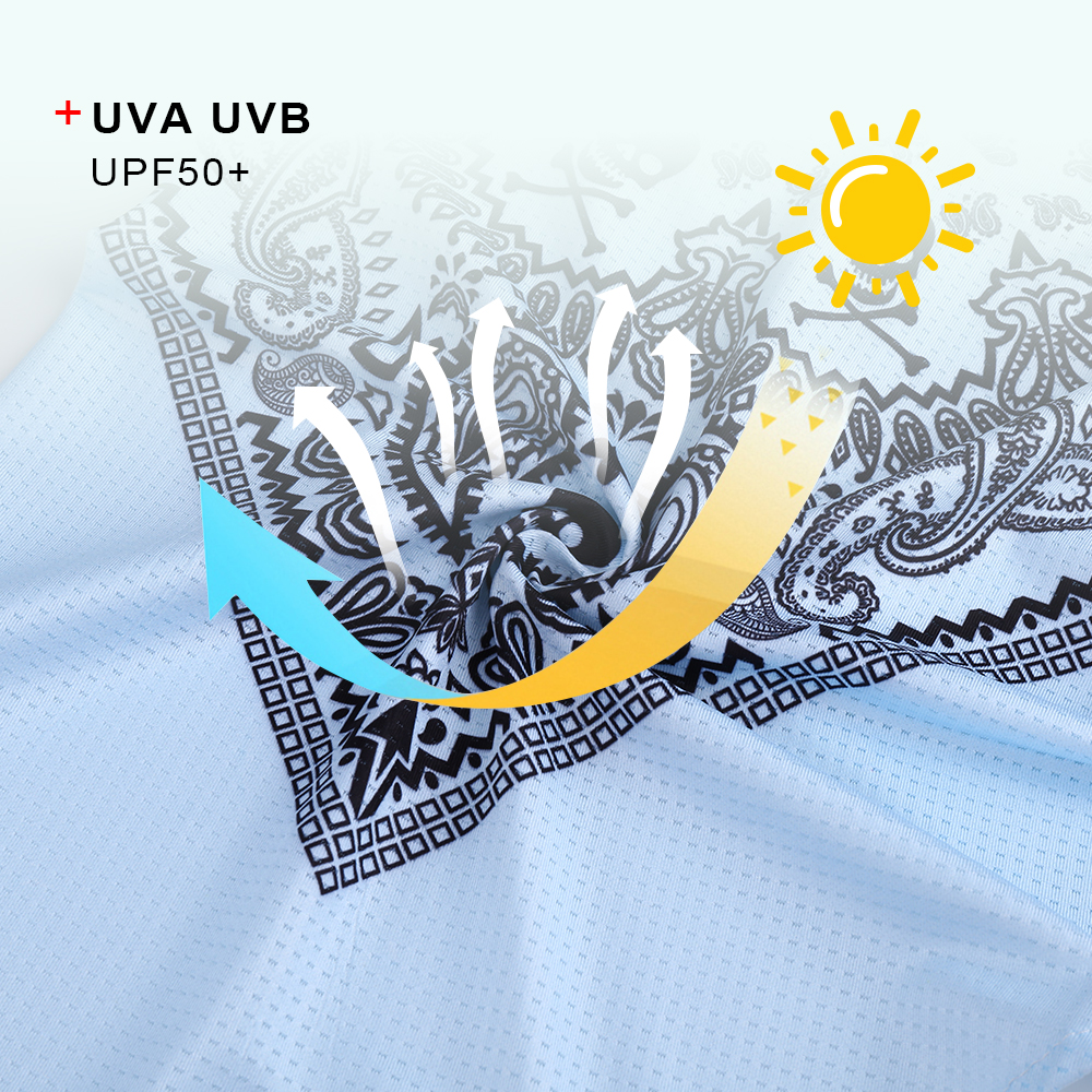3D Headband Skull Ghost Neck Gaiter Tube Scarves Hanging Ear Cover Scarf Breathable Windproof Sun Face Guard Bandana Quick Dry