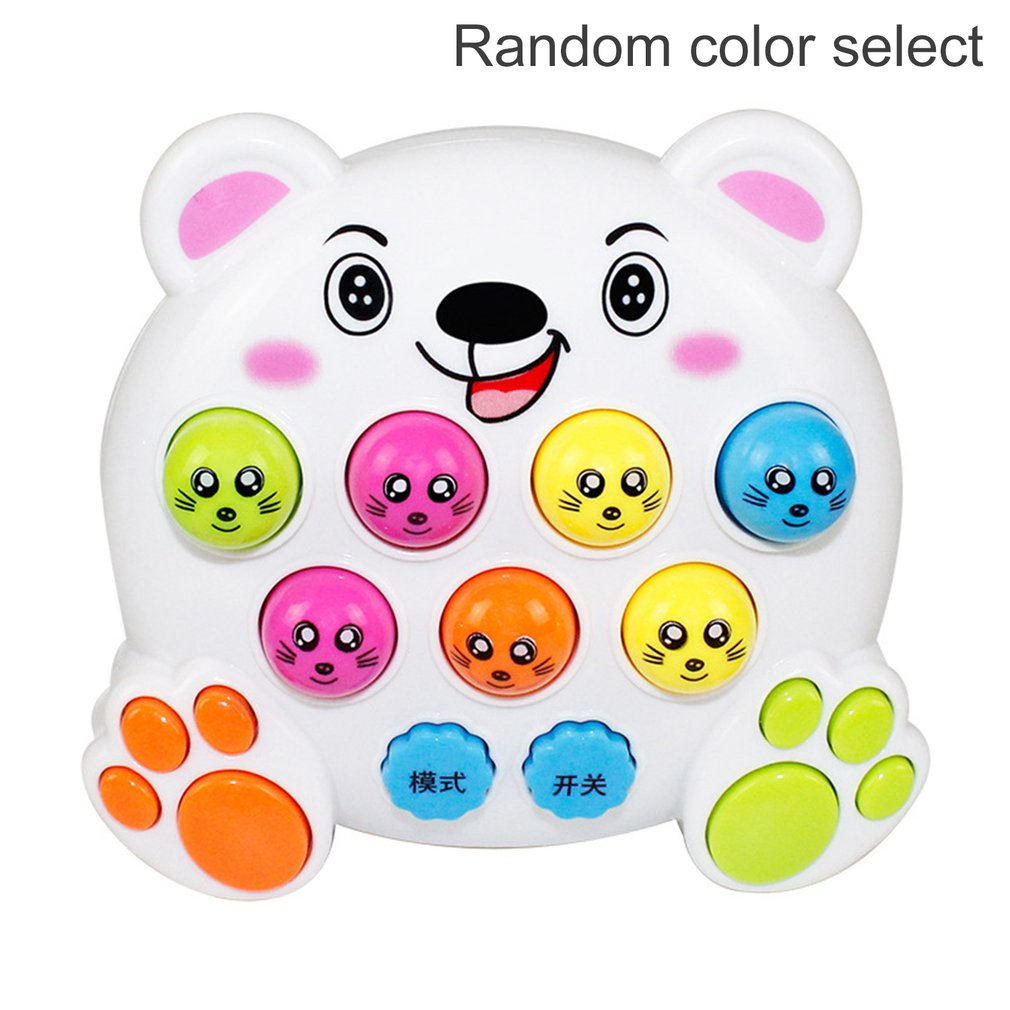 Electronic Musical Light Mole Hamster Attack Toy Kids Baby Early Education Learning Game Toy Mini Intelligent Interactive Toys
