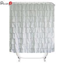 Занавеска для ванной с плиссировкой водонепроницаемая из полиэстера