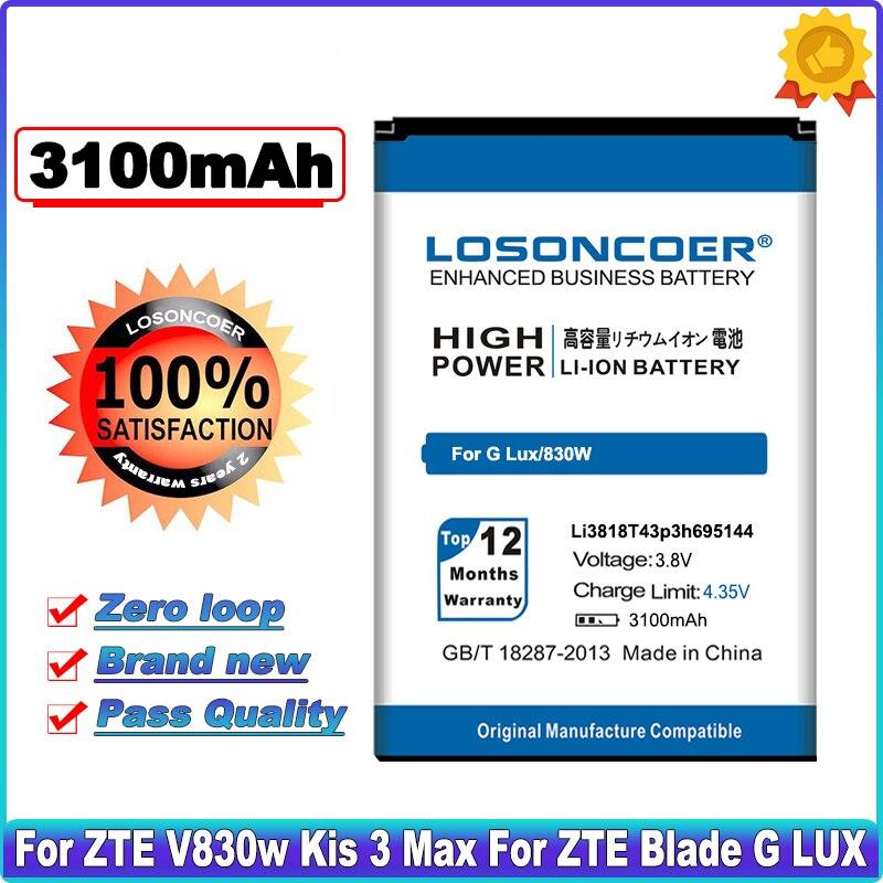 LOSONCOER 2250 мАч Li3818T43P3h695144 для ZTE Blade G LUX для ZTE V830w Kis 3 Max хорошее качество батареи телефона