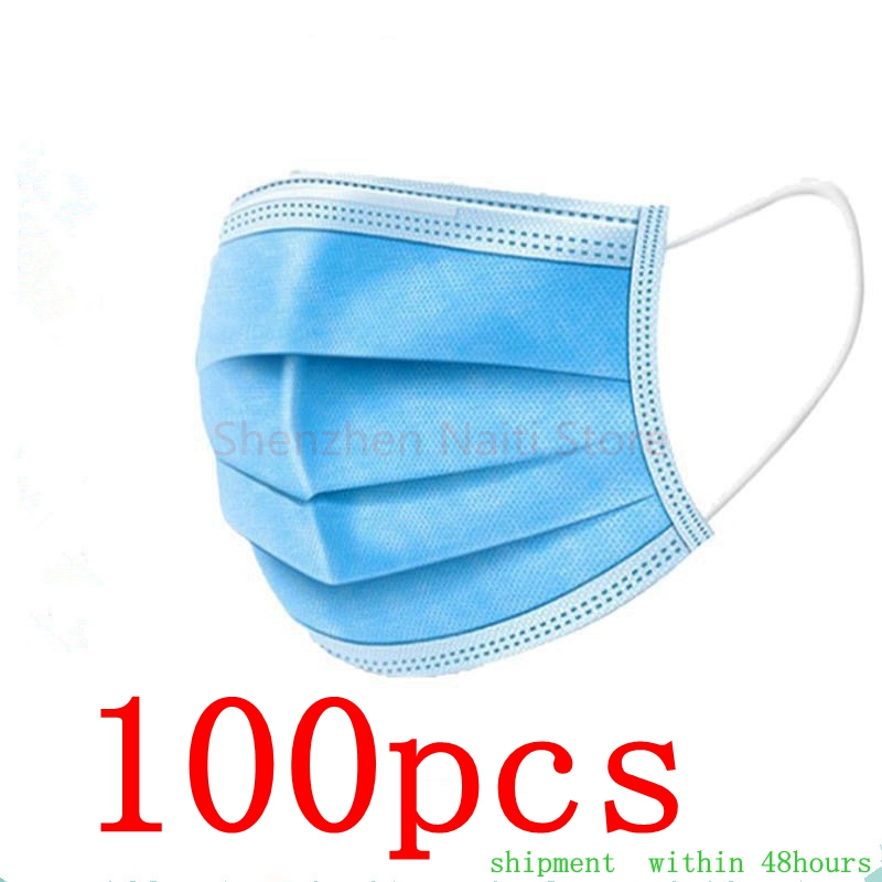 In Stock!Disposable Face Masks Disposable 3 Layers Dustproof Mask Facial Protective Cover Masks Set Anti-Dust Mask title=