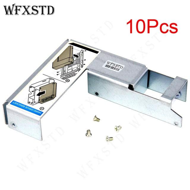 """10 قطعة جديد 3.5 """"إلى 2.5"""" HDD قوس علبة العلبة لديل R420 R430 R510 R520 T620 R710 R720 R730 09W8C4 تحويل محول المسمار"""
