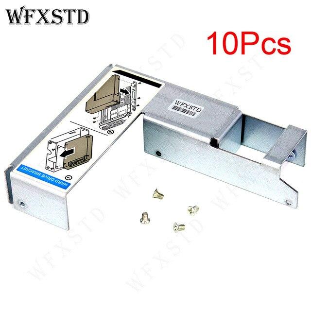 """10 sztuk nowy 3.5 """"do 2.5"""" HDD uchwyt taca Caddy dla DELL R420 R430 R510 R520 T620 R710 R720 R730 09W8C4 konwerter śruba adapter"""