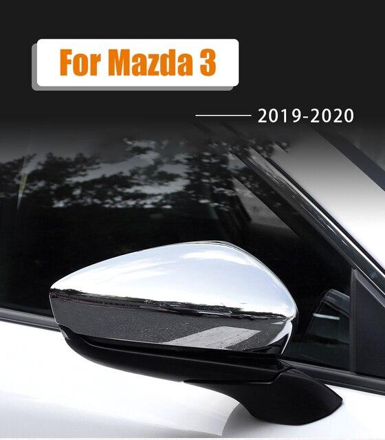 Для mazda 3 axela 2019 2020 abs Хромированная накладка на зеркало