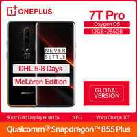 Global Version OnePlus 7T Pro Mclaren Edition Snapdragon 855 + 6.67''AMOLED Screen 90Hz Refresh Rate 48MP Triple Cam 4085mA NFC