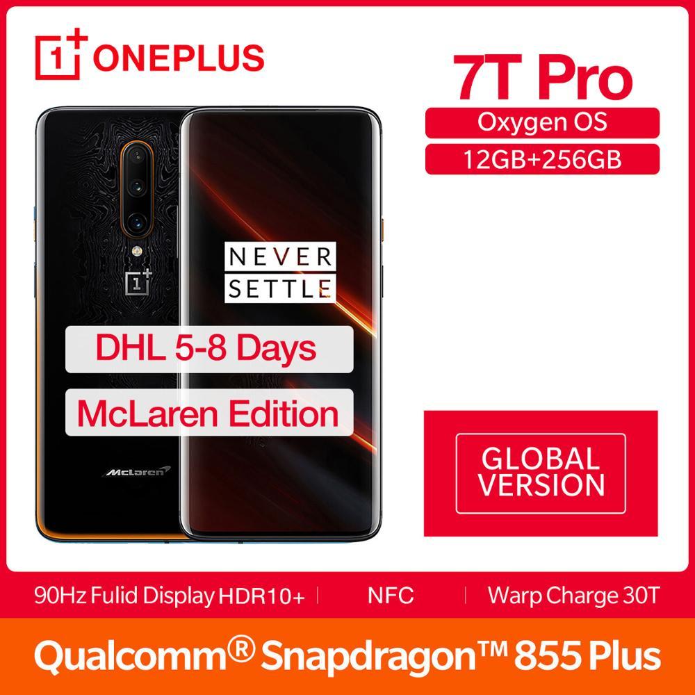 Versão global oneplus 7 t pro mclaren edição snapdragon 855 + 6.67 screen amtela amoled 90 hz atualizar taxa 48mp triplo cam 4085ma nfc