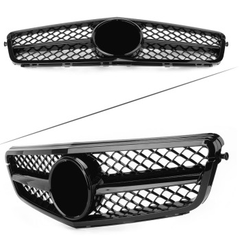 Car Racing Grill Front Bumper Grille For Mercedes Benz C Class W204 C300 C350 C200 C250 2008 2009 2010 2011 2012 2013 2014 image