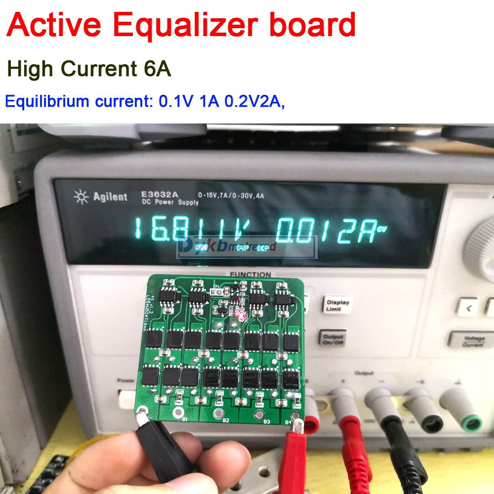 3S 4S 5S 6S 7S 8S Active Equalizer Balancer 6A Lifepo4 Lithium Lipo Battery Energy Transfer capacitor balance Board BMS 12V image