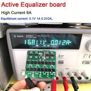 Image 2 - Equalizador ativo 3s 4S 5S, 6s, 7s, 8s, 6a, lifepo4, lítio, bateria de lipo, transferência de energia placa de proteção bms