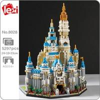 Lezi 8028 World Architecture Park rozrywki Big Dream Castle 3D DIY Mini diamentowe klocki klocki zabawki do budowania dla dzieci bez pudełka