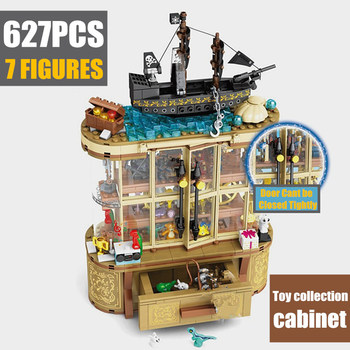 New 627PCS 7 FIGURES Toys Cabinet Display Case Box Fit Idea Super Heroes Building Blocks Bricks Toy Model Children Kid Gift single sale modok george tarleton from hulk lab smash set building blocks super heroes bricks action toys for children kf918