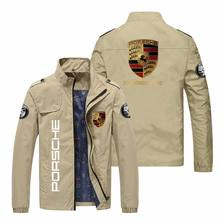 Autumn and winter ordinary loose zipper pocket stand collar jacket youth personality car logo zipper casual jacket