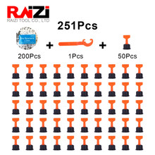 RAIZI 251Pcs Tile Spacers With Tile Leveler Spacers Wrenc For Floor Wall Tile Positioning Leveler Reusable Tile Leveling System
