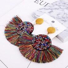 Big Crystal Tassel Earrings For Women  Rhinestone Geometric Drop Earring Statement Luxury Long Earring  Fashion jewelry цена и фото