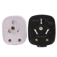 白オーストラリア標準 16A/10A 250 v 3 極電源プラグ着脱式プラグアセンブリ au 接続プラグ 2/5/10/20 個