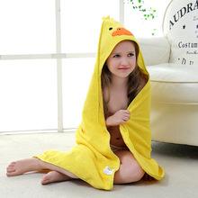 Bawełniany ręcznik niemowlęcy Poncho noworodek niemowlęcy ręcznik kąpielowy dziecięcy koc z kapturem ręczniki z kapturem dziecięce rzeczy tanie i dobre opinie Pasuje prawda na wymiar weź swój normalny rozmiar Dziewczyny COTTON Cartoon pt-26 Bath Towel Baby towels kids 0-3 years old