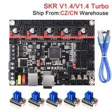 BIGTREETECH Placa de Control Turbo SKR V1.4, 32Bit, SKR V1.3, SKR 1,4, TMC2209, TMC2208, piezas de impresora 3D para Ender 3 Pro