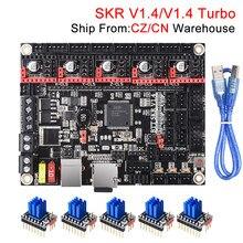 Bigtreetech skr v1.4 btt skr v1.4 turbo placa de controle 32bit skr v1.3 skr 1.4 tmc2209 tmc2208 peças de impressora 3d para ender 3 pro