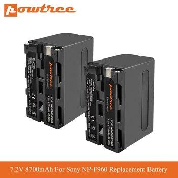 цена на 8700mAh replacement For Sony NP-F960 NP-F970 np-f975 np-f950 np-f930 battery dcm-m1 mvc-cd 1000 HXR-NX3 Camera LED video light