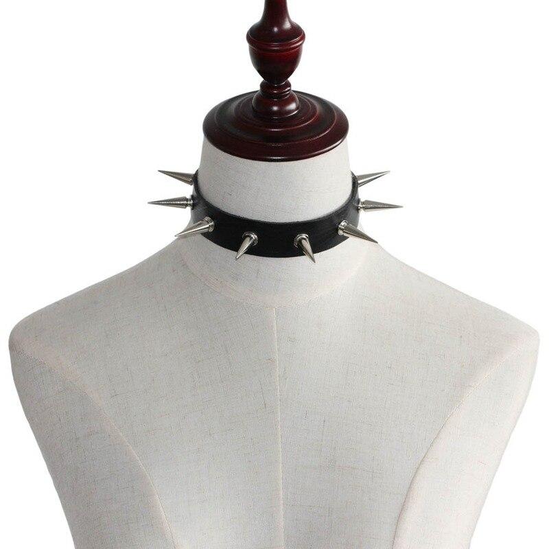 Pu Leather Goth Rivets Choker Necklace Party Club Sexy Gothic Jewelry Woman girls Harajuku Retro Punk Choker Collar necklace