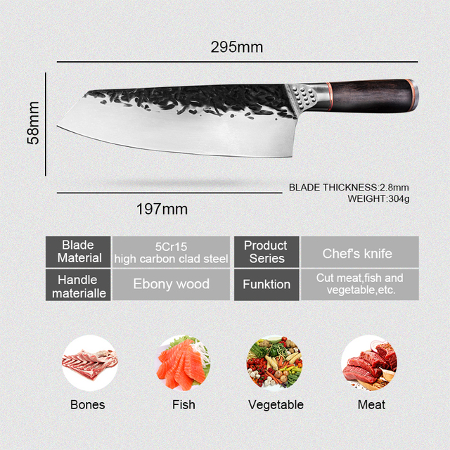 Chef Knife Handmade Forged Kiritsuke Kitchen Knife Stainless Steel Knife for Meat Fruit Fish Vegetables Butcher Knife Butcher Knife Chef Knife Chopper Home & Garden Home Garden & Appliance Kitchen Knives & Accessories Kitchen, Dining & Bar Meat Cleaver Multifunctional Knife cb5feb1b7314637725a2e7: 7.8inch forged knife 7inch kitchen knife 7inch laser pattern Knife Whetstone