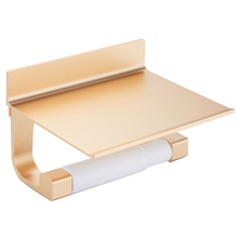Toilet Roll Paper Storage Holder Bathroom Kitchen Punch-free Installation With Shelf Home Decoration Accessories