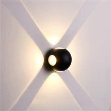 Светодиодная Минималистичная настенная лампа ip65 водонепроницаемый