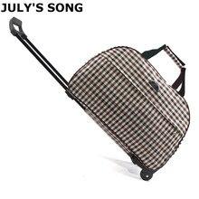 JULYS SONG maletas de viaje para hombre y mujer, bolsa de equipaje con carro con ruedas, para viaje