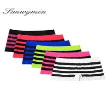 Calcinha de algodão feminino boyshort novo feminino respirável calças senhoras roupa interior meninas underpant boxer gordura shorts DY 015 004