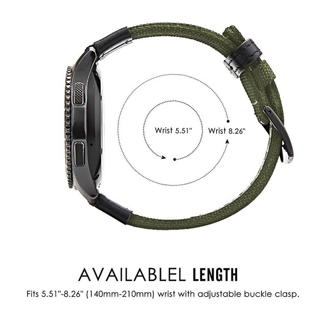 strap For Samsung Galaxy watch 3 46mm band gear s3 Frontier Classic nylon 22mm 20mm WatchWoven Nylon Band for 20mm 22mm Wrist 4